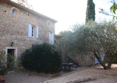 The outside of gîte Petit Paradis