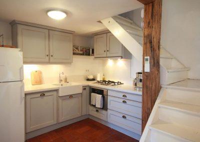 The kitchen of the Petit Paradis gîte