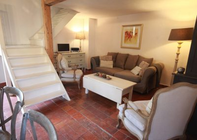 The living space of the Petit Paradis gîte