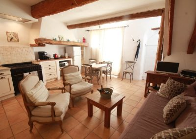 The living space of the Picholine gîte