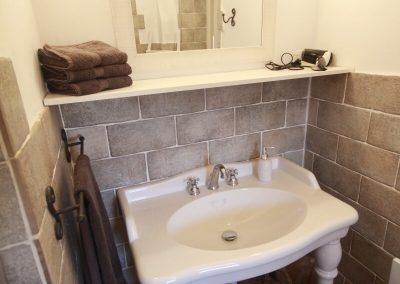 De badkamer van gîte Valentin