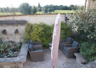 Het terras van gîte Valentin