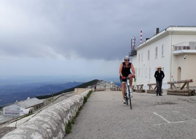 Cycling up the Mont Ventoux