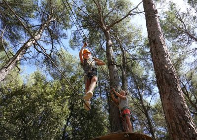 Adventure parc in the forest is at 5 minutes from Les Granges du Bosquet. There are challenging trails for young and old.