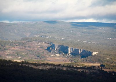 From Gordes, but also from Roussillon, the views are great
