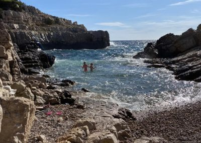 Take a walk on the rocks (Calanques) at Cassis and take a swim